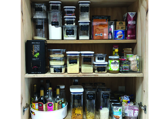 organized and labeled pantry