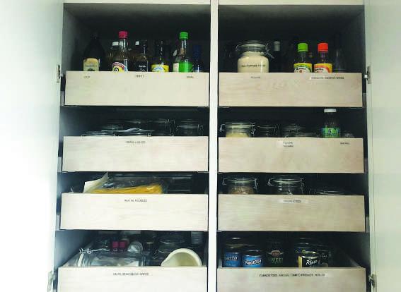 organized pantry shelf