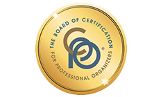 Board of Certification for Professional Organizers (BCPO) badge