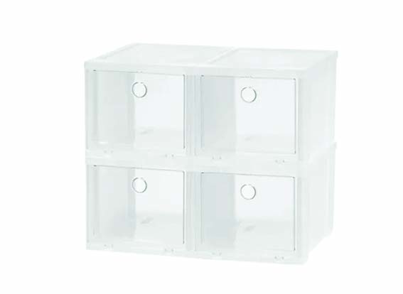 shoe storage boxes with clear door