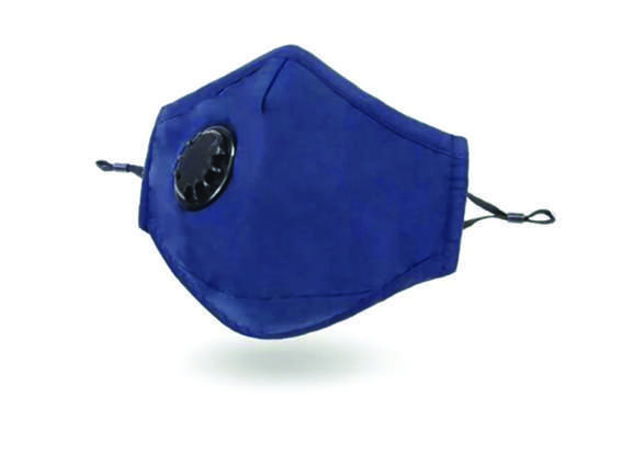 Blue Reusable Fortress Mask with filter